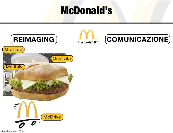McDonald's           REIMAGING                    COMUNICAZIONE   Mc Cafè                            Qualivita    Mc Italy...