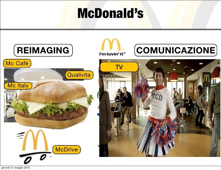 McDonald's           REIMAGING                             COMUNICAZIONE   Mc Cafè                              Food Event...