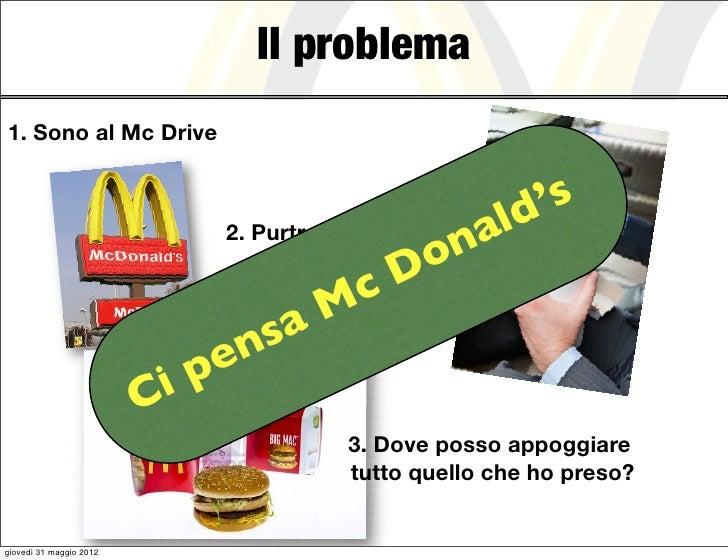 Il problema1. Sono al Mc Drive                                                          ld 's                             ...