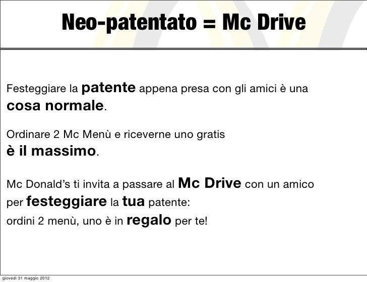 Neo-patentato = Mc Drive Festeggiare la patente appena presa con gli amici è una cosa normale. Ordinare 2 Mc Menù e riceve...