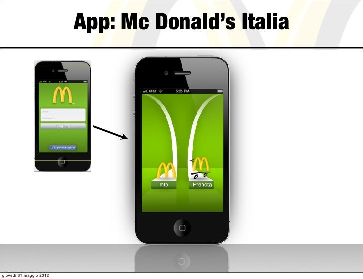 App: Mc Donald's Italiagiovedì 31 maggio 2012