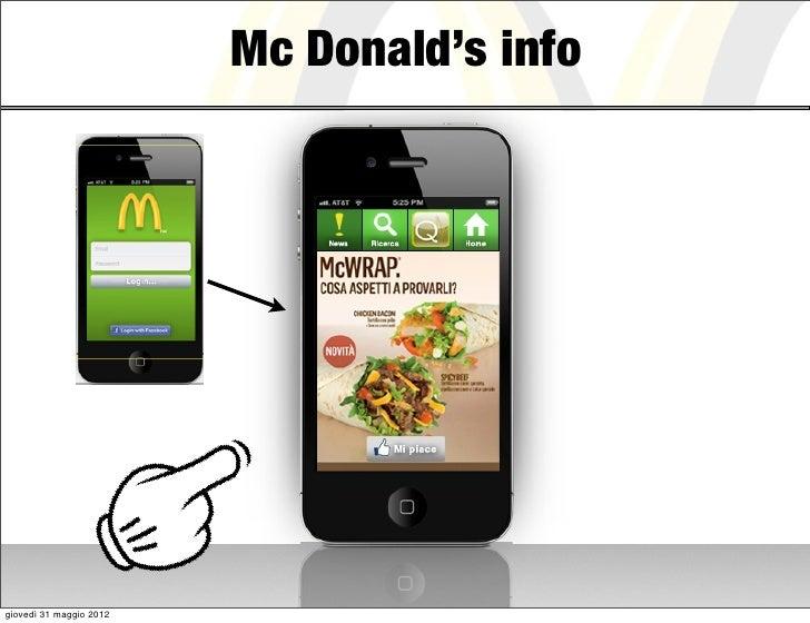 Mc Donald's infogiovedì 31 maggio 2012