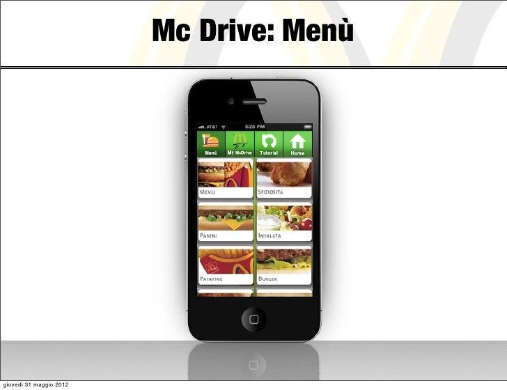 Mc Drive: Menùgiovedì 31 maggio 2012