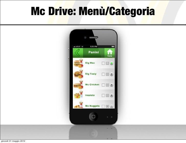 Mc Drive: Menù/Categoriagiovedì 31 maggio 2012