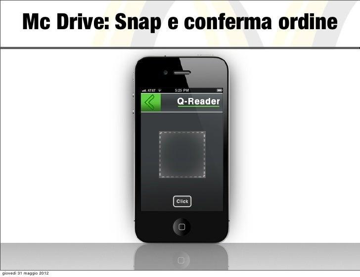Mc Drive: Snap e conferma ordinegiovedì 31 maggio 2012