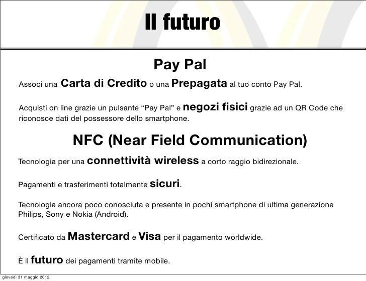 Il futuro                                             Pay Pal       Associ una        Carta di Credito o una Prepagata al ...