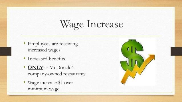 Mcdonalds' wage increase Slide 3
