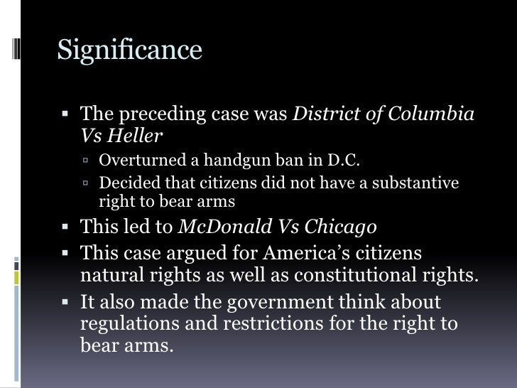 district of columbia v heller In june, 2008, the us supreme court issued a landmark ruling on the second  amendment right to bear arms, dc v heller so far, the victory hasn't turned out .