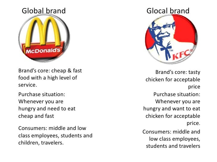 comparison mcdonalds vs kfc Free essay: a comparison of kfc and mcdonald's marketing strategy in china: localization or globalization abstract mcdonald's is the greatest fast food chain.