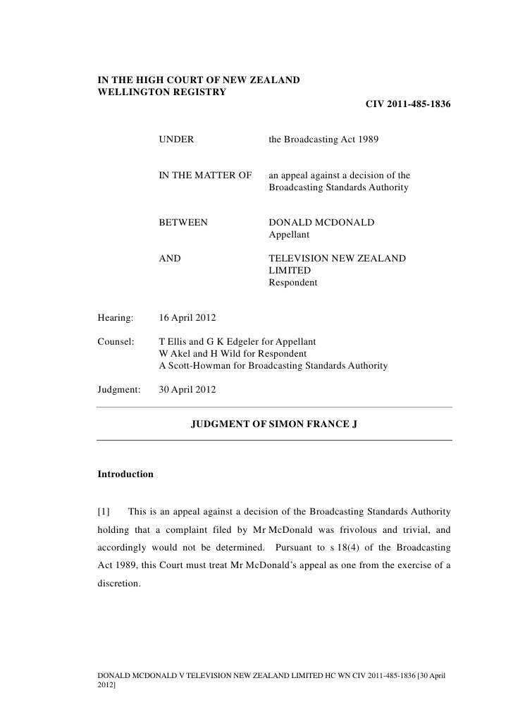 IN THE HIGH COURT OF NEW ZEALANDWELLINGTON REGISTRY                                                               CIV 2011...