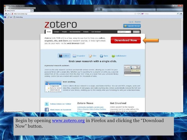 Zotero Tutorial Presentation Slide 3