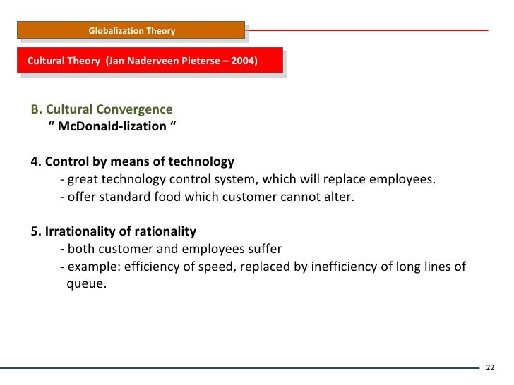 the four basic factors of the success of mcdonalds efficiency calculability predictability and contr The research from ritzer, and others, show that the success of mcdonalds and the fast-food industry are due to the factors of efficiency, calculability, predictability, and control operationally, these factors are defined as.