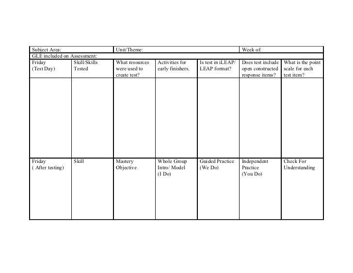 Mc donogh 26 lesson plan template reading