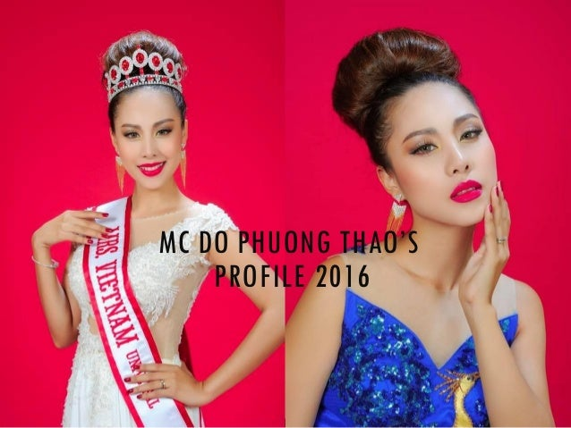 MC DO PHUONG THAO'S PROFILE 2016