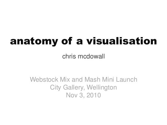 anatomy of a visualisation chris mcdowall Webstock Mix and Mash Mini Launch City Gallery, Wellington Nov 3, 2010