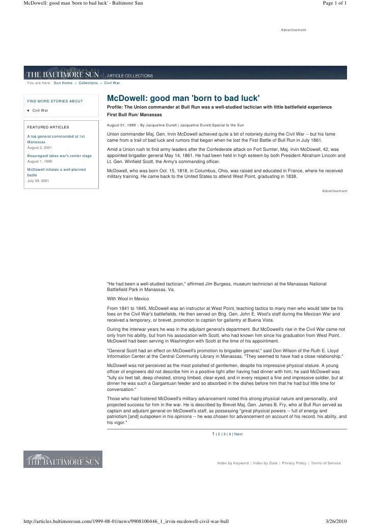 McDowell: good man 'born to bad luck' - Baltimore Sun                                                                     ...
