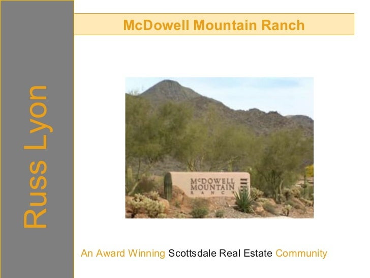 McDowell Mountain Ranch Russ Lyon An Award Winning  Scottsdale Real Estate  Community