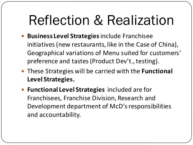 Mcd qspm strategy formulation