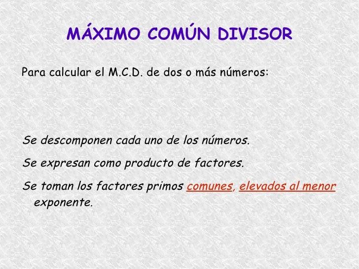 Se escribe  M.C.D. </li></ul>