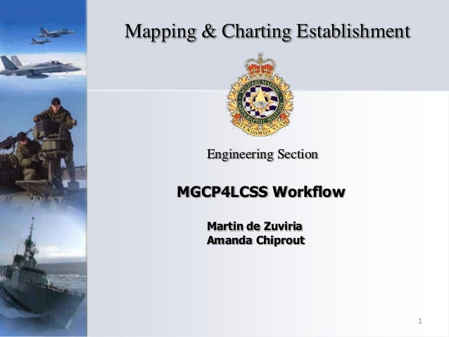 MGCP4LCSS Workflow Engineering Section Mapping & Charting Establishment 1 Martin de Zuviria Amanda Chiprout