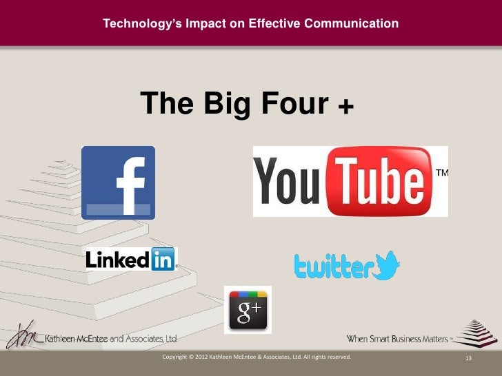 impact of technology communication The positive impact of technology in healthcare is clear  the world for better  access to the organisation's knowledge base and communication.