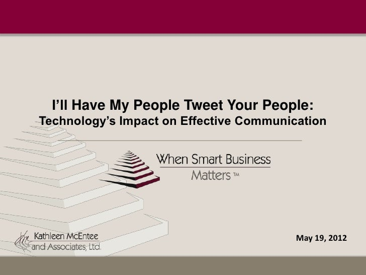 impact of technology on communication pdf