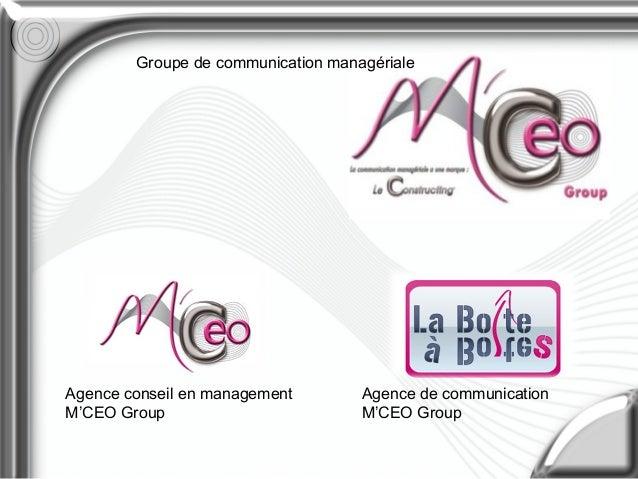 Agence de communication M'CEO Group Agence conseil en management M'CEO Group Groupe de communication managériale