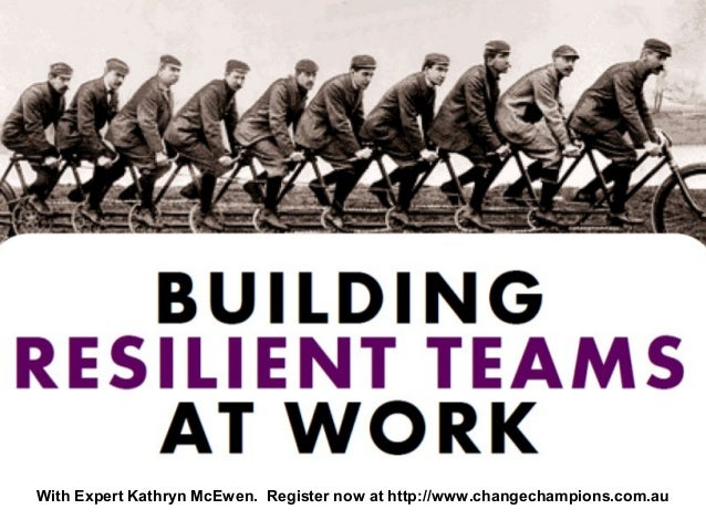 With Expert Kathryn McEwen. Register now at http://www.changechampions.com.au