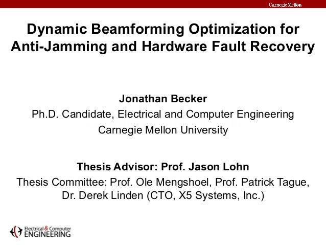 Dissertation in jamming anti jamming wireless networks