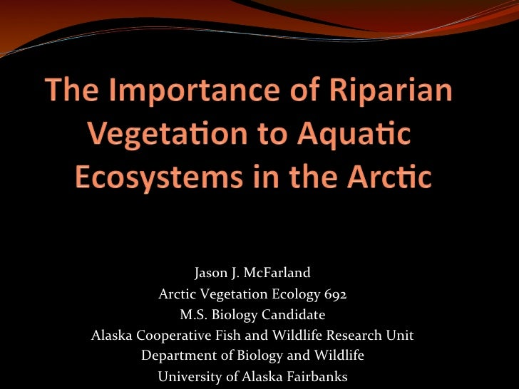 Jason	  J.	  McFarland	               Arctic	  Vegetation	  Ecology	  692	  	                  M.S.	  ...