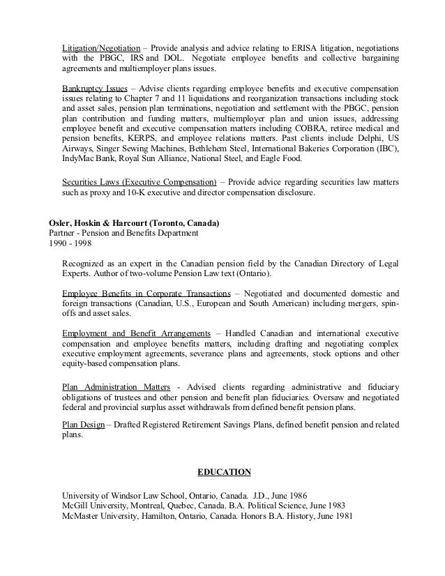 bankruptcy trustee resume