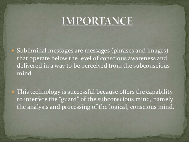 an analysis of the subliminal messages in marketing What are subliminal messages find out the science and evidence, try a session for free and see if it works for you.