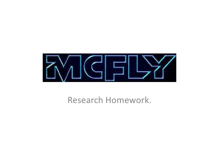 Research Homework.
