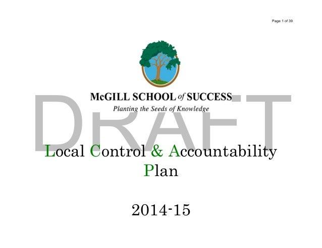 McGill LCAP