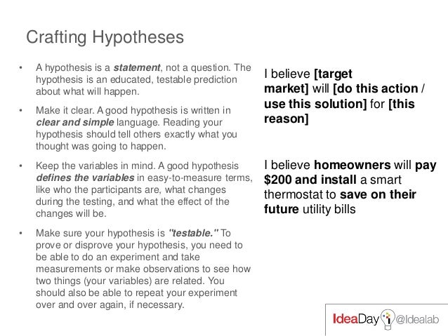 mc govern on startup hypotheses and testing