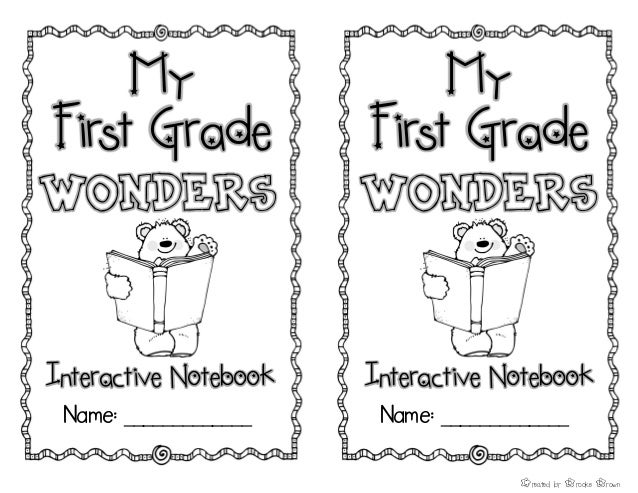Mc Grawhillwondersinteractivenotebookfreesample Firstgrade