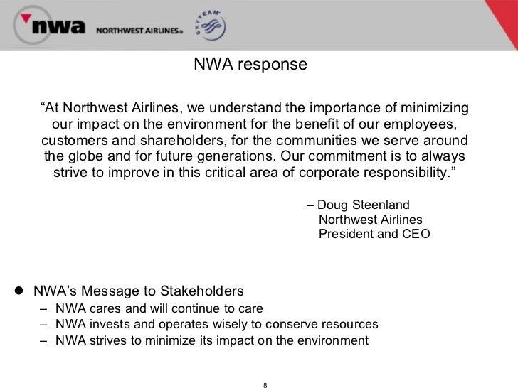 Northwest airlines confronts change