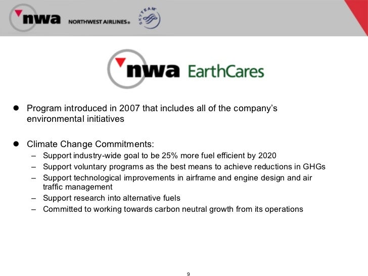 Northwest Airlines confronts change
