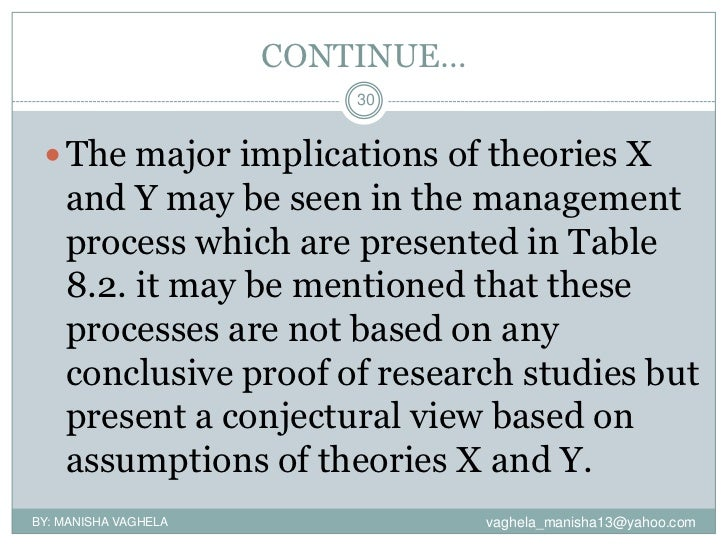 theory x and theory y case study