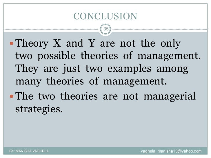 Theories of management?
