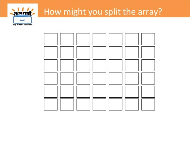 How might you split the array?