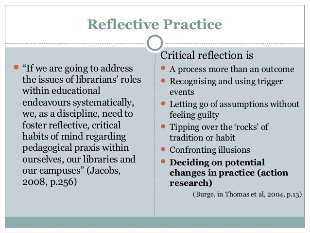 moon 1999 reflective practice