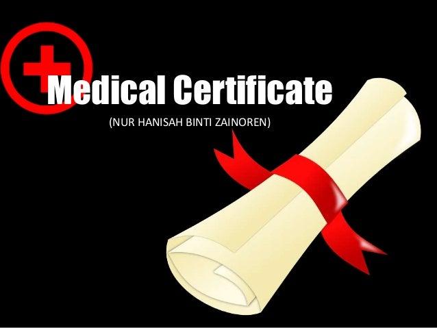 Medical Certificate (NUR HANISAH BINTI ZAINOREN)