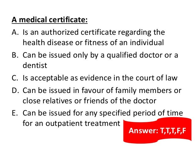 MEDICAL CERTIFICATE – Medical Certificate from Doctor