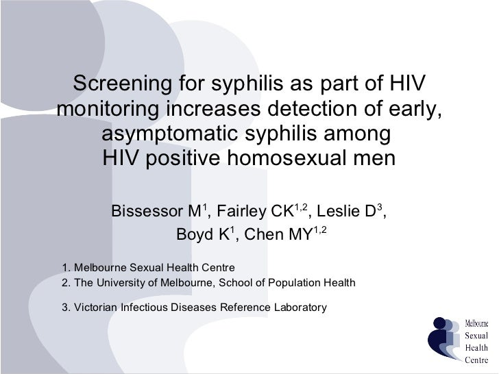 Screening for syphilis as part of HIV monitoring increases detection of early, asymptomatic syphilis among  HIV positive h...