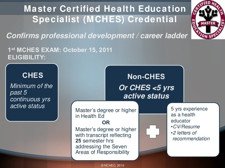 mches  master certified health education specialist