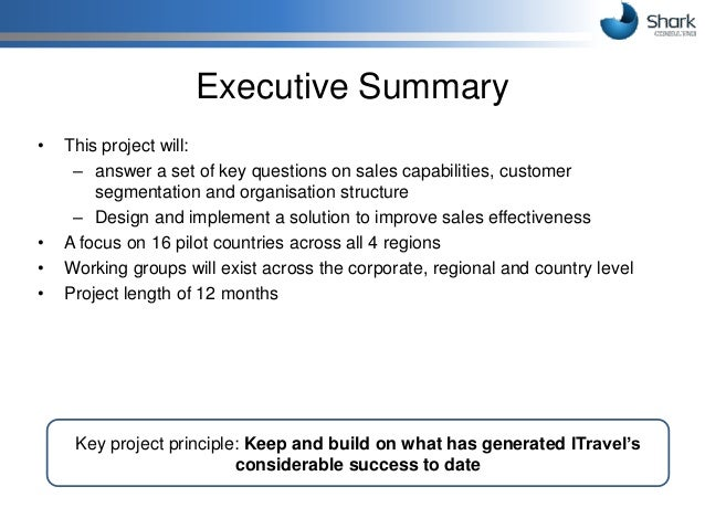 Proposal for boosting Sales force effectiveness at ITravelCo