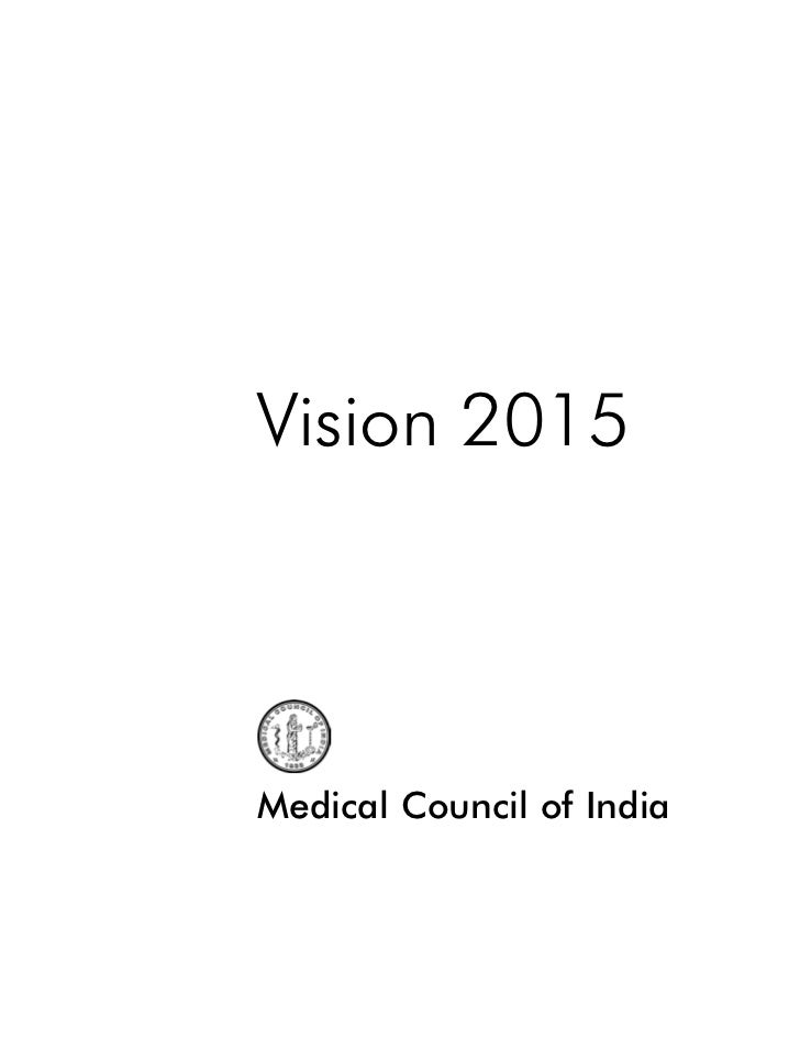 Vision 2015Medical Council of India