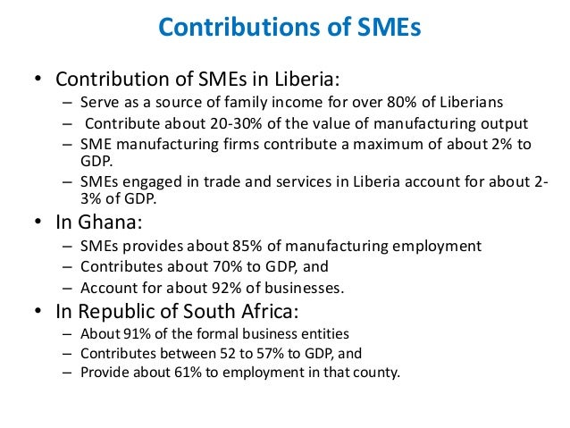 contribution in sme The ministry of entrepreneur development aims to strengthen the economic contribution of small and medium enterprises (smes), which.