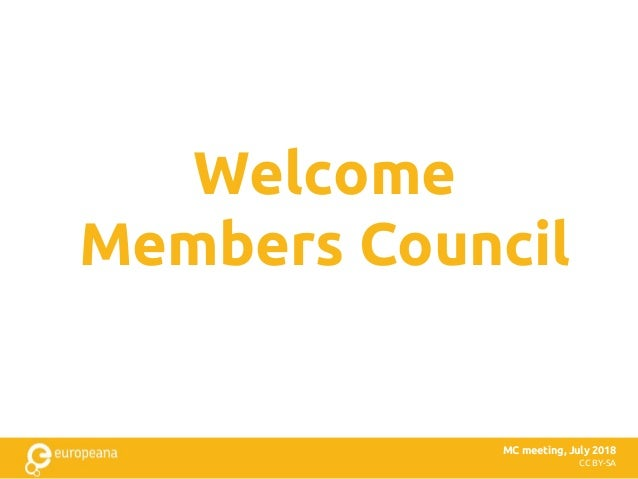 CC BY-SA Welcome Members Council MC meeting, July 2018